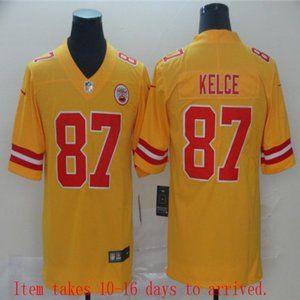 Chiefs #87 Travis Kelce Jersey Inverted